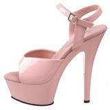 Rózsaszín 15 cm Pleaser KISS-209 Magassarkú Platform