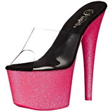 Rozsaszin 18 cm ADORE-701UVG neon platform női papucs