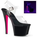 Rozsaszin 18 cm SKY-308TT Neon platform magassarkű női