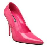 Rózsaszín Lakk 12 cm MILAN-01 Körömcipők Tűsarkú Magas Cipők