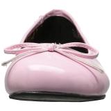 Rozsaszin Lakkbőr ANNA-01 nagy méretek balerínky cipők