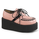 Rozsaszin Műbőr CREEPER-206 Platform Creepers Cipők Női