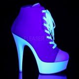 Rozsaszin Neon 15 cm DELIGHT-600SK-02 vászon magassarkú tornacipő