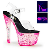 Rozsaszin Neon 18 cm Pleaser CRYSTALIZE-308PS Platform Magassarkú