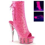 Rózsaszín Platform Bokacsizma női 16 cm Pleaser DELIGHT-1018G