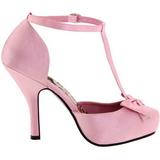 Rózsaszín Szatén 12 cm CUTIEPIE-12 Női Körömcipők