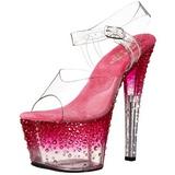 Rózsaszín Átlátszó 18 cm STARDUST-708-2 női cipők a magassarkű