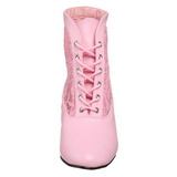 Rózsaszín csipke anyag 5 cm DAME-05 Női Fűzős Bokacsizma