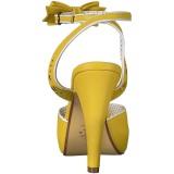 Sárga 11,5 cm Pinup retro vintage BETTIE-01 női magassarkú szandál