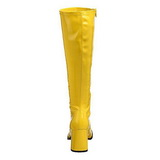 Sárga Lakk 8,5 cm GOGO-300 Női Csizma a Férfi
