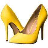 Sárga Neon 13 cm AMUSE-20 Körömcipők Tűsarkú Magas Cipők
