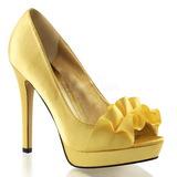 Sárga Szatén 12 cm LUMINA-42 Körömcipők magas cipők