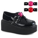 Szarvasbőr 5 cm CREEPER-222 Platform Creepers Cipő
