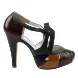 Tarka 11,5 cm retro vintage BETTIE-19 női cipők a magassarkű