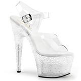 Teljes Átlátszó 18 cm STARDUST-708-2 női cipők a magassarkű
