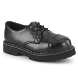Valódi bőr RIOT-03 demonia cipő - unisex acél lábbeli punk cipő