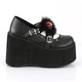 Vegan 11,5 cm Demonia KERA-11 Platform Gótikus Cipők