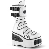 Vegan 11,5 cm KERA-108 alternatív csizma platformos fehér