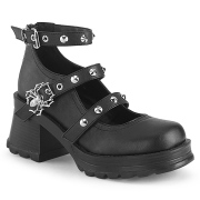 Vegan 7 cm Demonia BRATTY-07 Platform cipők vastag sarkú