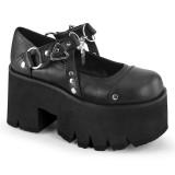 Vegan 9 cm ASHES-33 alternatív cipők platformos fekete