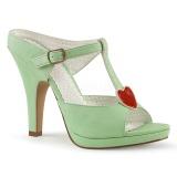 Zöld 10 cm retro vintage SIREN-09 Papucs Női Cipők