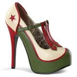 Zold Bézs 14,5 cm Burlesque TEEZE-43 női cipők magassarkű