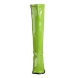 Zöld Lakk 8,5 cm GOGO-300 Női Csizma a Férfi