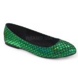 Zöld MERMAID-21 Balerina lapos sarkú női cipők