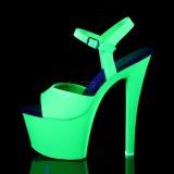 Zöld Neon 18 cm Pleaser SKY-309UV Platform Magassarkú
