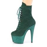 Zöld glitter 18 cm ADORE-1020FSMG rúdtánc cipő - platform bokacsizma