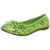Zöldcitrom STAR-16G Csillámos Lapos Balerina Cipők Női
