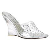 Átlátszó 10,5 cm LOVELY-401RS Éktalpú Cipők Magassarkú