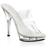 Átlátszó 13 cm Fabulicious LIP-102 Platform Papucs Női Cipők
