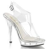 Átlátszó 13 cm LIP-107 női cipők a magassarkű