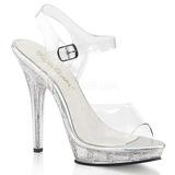 Átlátszó 13 cm LIP-108MG női cipők a magassarkű