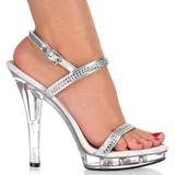 Átlátszó 13 cm LIP-117 női cipők a magassarkű