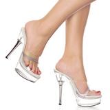 Átlátszó 14 cm ALLURE-601R Papucs Női Cipők Strasszköves Sarkú