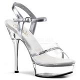 Átlátszó 14 cm ALLURE-650 női cipők a magassarkű
