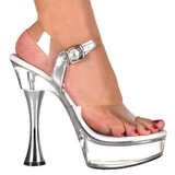 Átlátszó 14 cm SWEET-408 női cipők a magassarkű