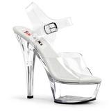 Átlátszó 15 cm BROOK-208 női cipők a magassarkű