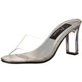 Átlátszó 8,5 cm ROMANCE-301 Plateau Papucs Női Cipők