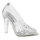 Átlátszó Strasszköves 10,5 cm CLEARLY-420 Körömcipők magas cipők