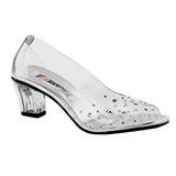 Átlátszó Strasszköves 5 cm CRYSTAL-100 Körömcipők magas cipők