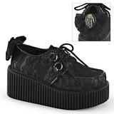 csipke anyag CREEPER-212 Platform Creepers Cipők Női