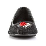 csipke anyag Demonia STAR-25 Lapos Balerina Cipők
